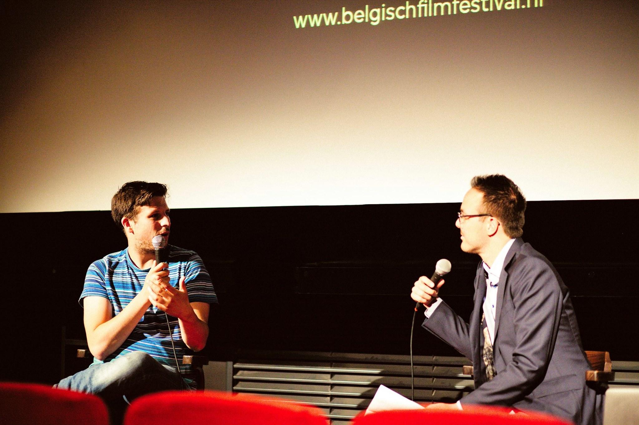 Journalist Kevin Toma interviewde regisseur Robin Pront. Foto: Kelley van Evert