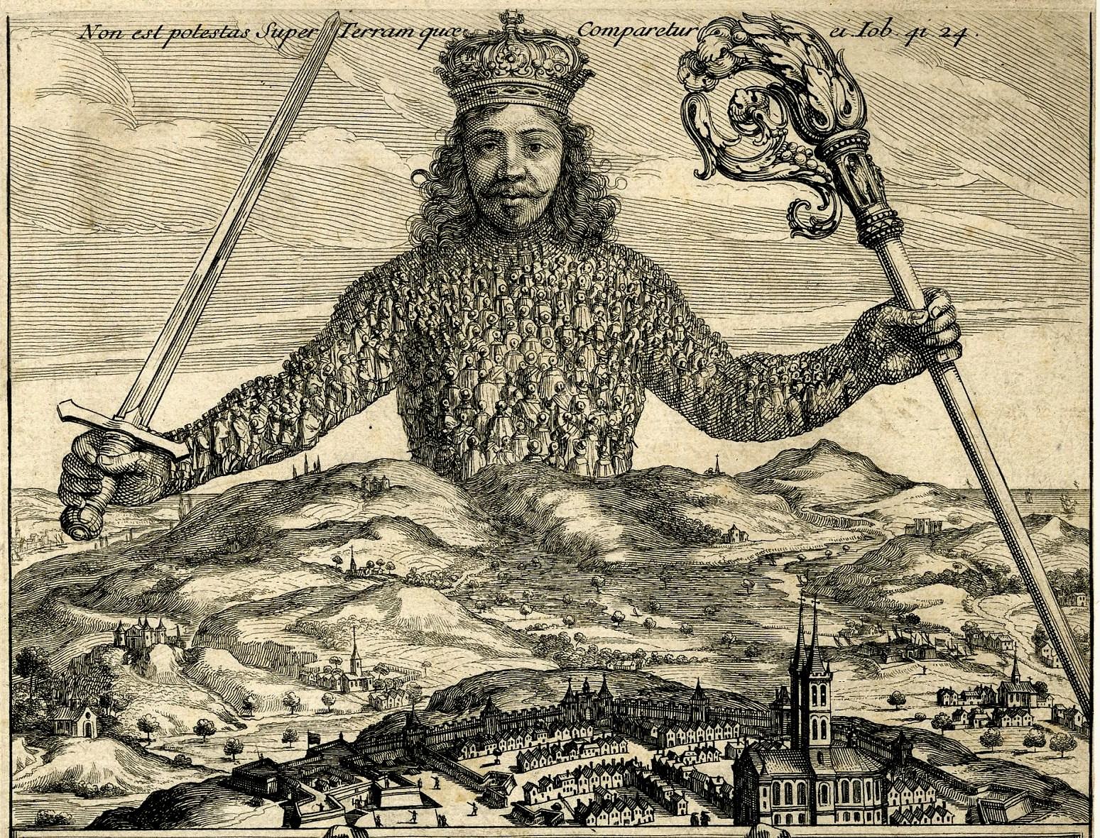 Leviathan is het bekendste werk van Thomas Hobbes (1588-1679), via