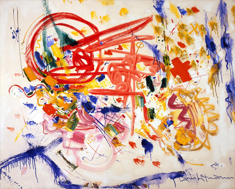 'Laburnum' van de Duits-Amerikaanse schilder Hans Hofmann werd ook gebruikt. Via