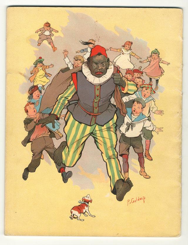De lieve kindervriend Piet, waar geen kind bang voor is. Illustratie van P. van Geldrop uit het boek Sint Nikolaas en zijn Knecht uit 1907.